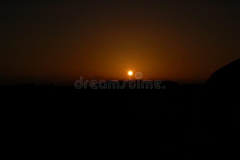 sundown royaltyfri bild