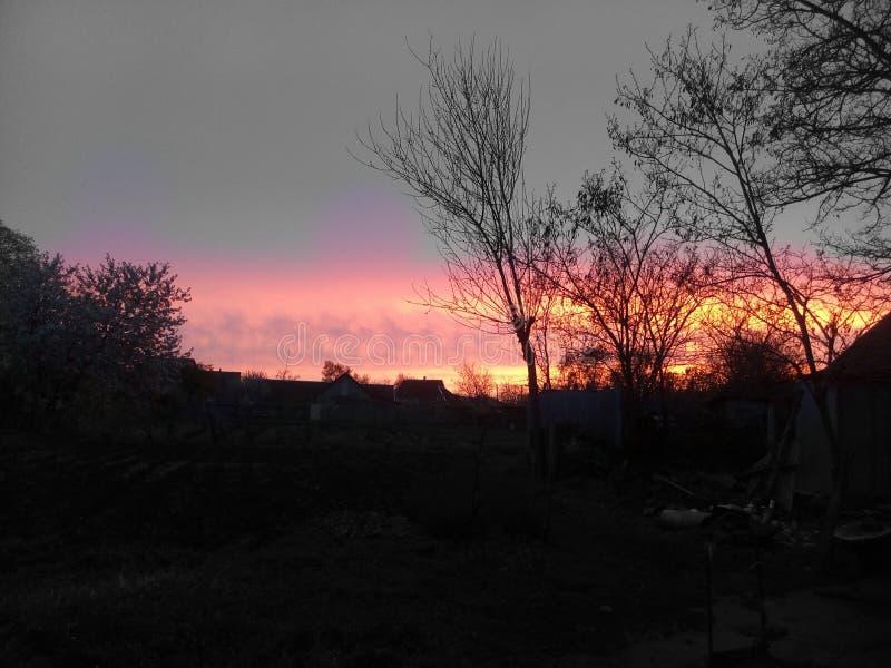 sundown стоковое изображение rf