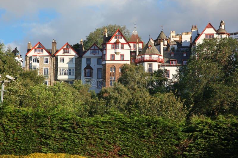Download Sundown at Edinburgh, UK stock photo. Image of monument - 28081458