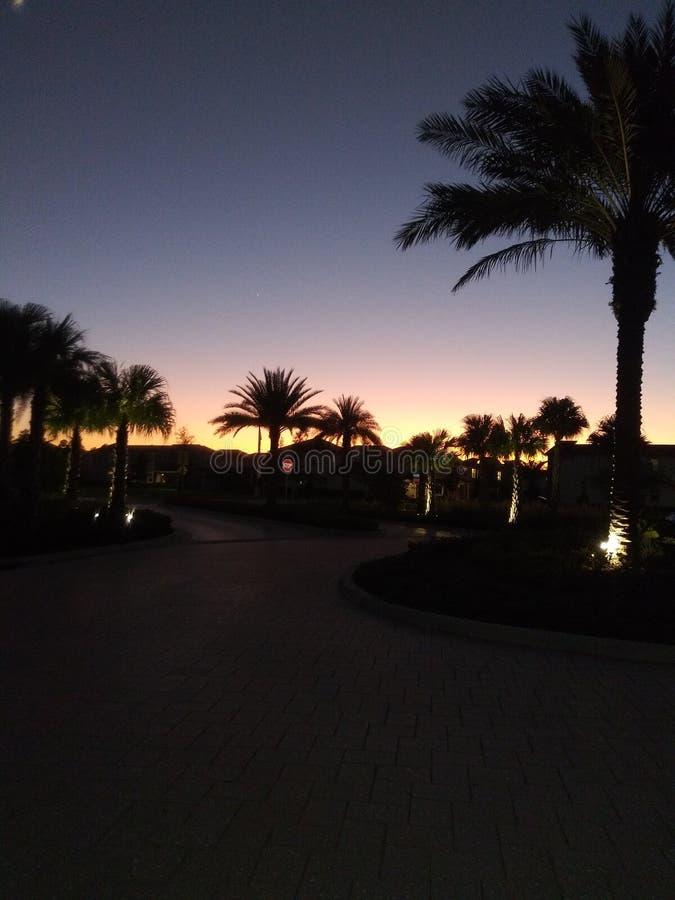 Sundown in Kissimmee Florida stock afbeelding