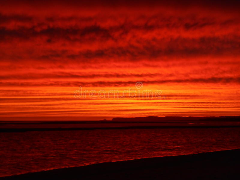 Fire sunset inverloch beach australia. Right place , right time , ocean australia stock images