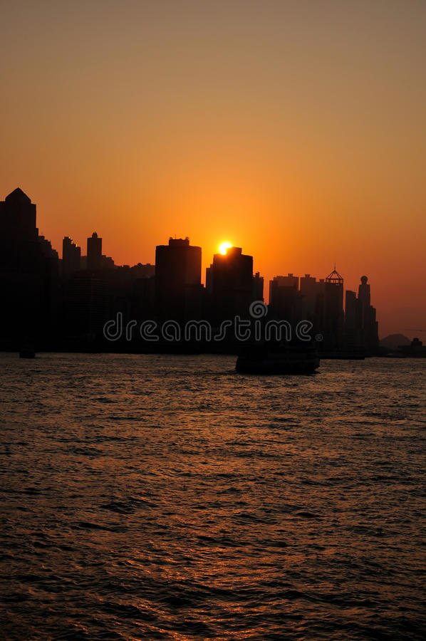 Download Sundown In Victoria Habor, Hongkong Stock Photo - Image of color, travel: 11872268