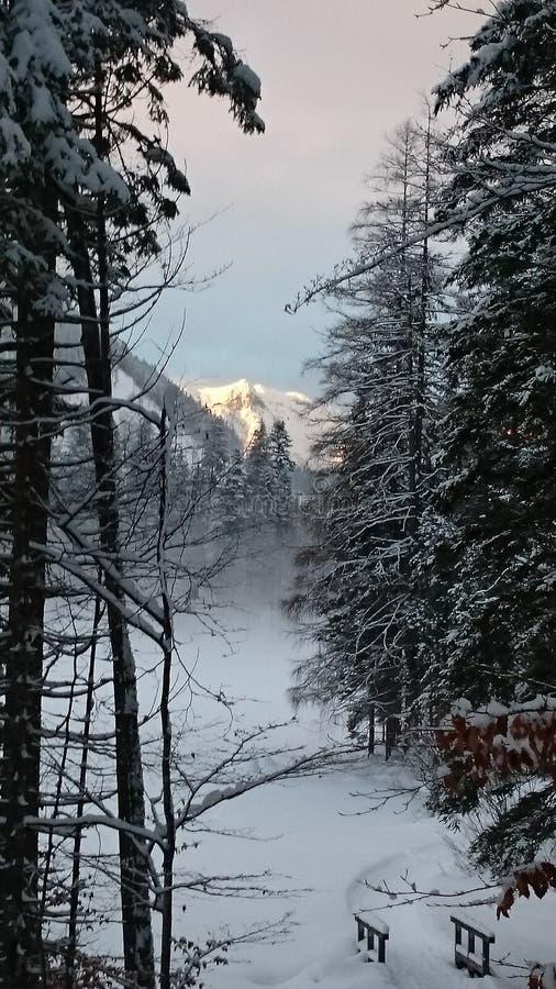 Sundowner on Mountain royalty free stock images