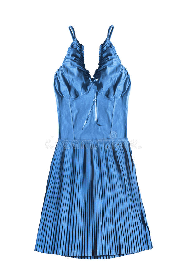 Sundress που απομονώνονται μπλε στοκ φωτογραφία με δικαίωμα ελεύθερης χρήσης