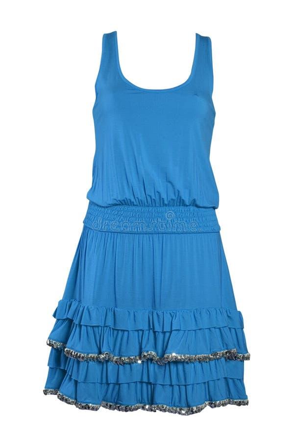 Sundress de seda azules de la alineada imagen de archivo libre de regalías