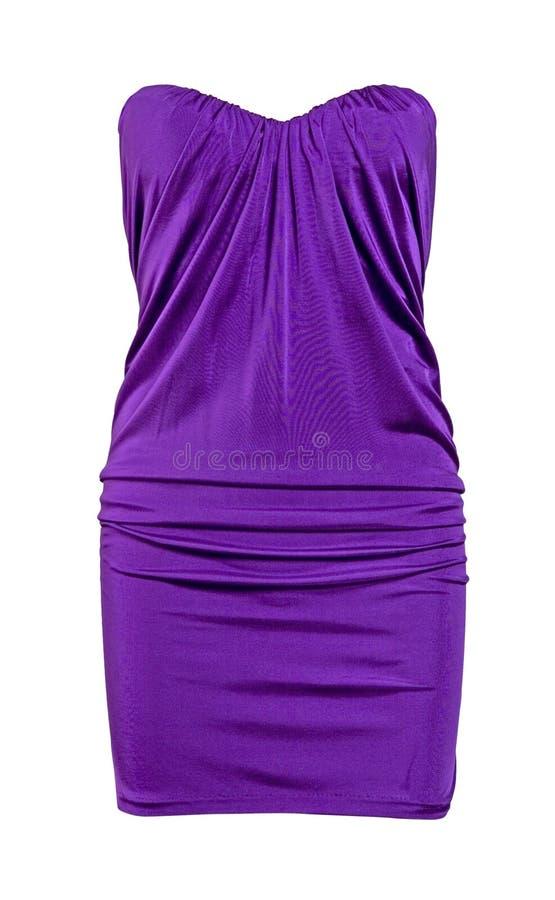 Sundress di seta viola del vestito fotografia stock