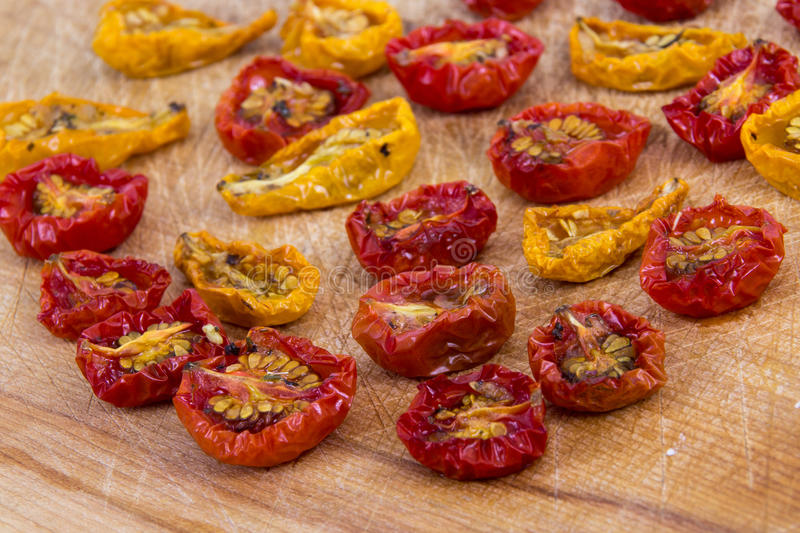 Sundried cherry tomatoes royalty free stock images