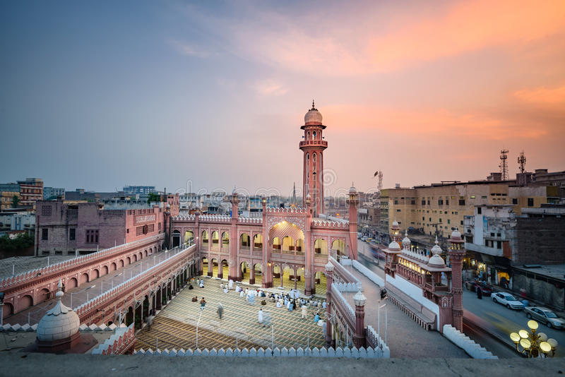 Sunehri Masjid Peshawar Pakistan royaltyfri fotografi