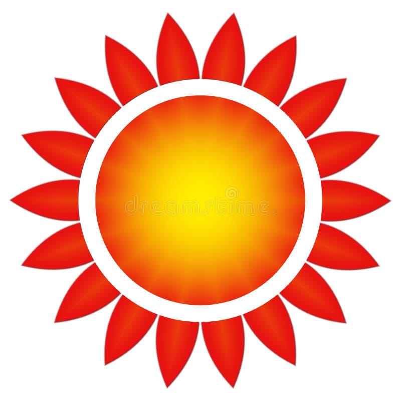 Sunen i en blomma stock illustrationer