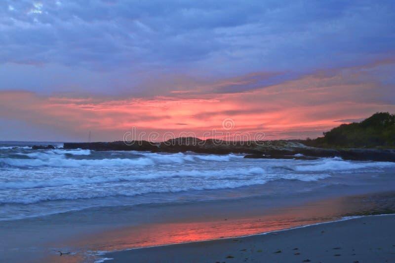 Sunset Newport RI stock images