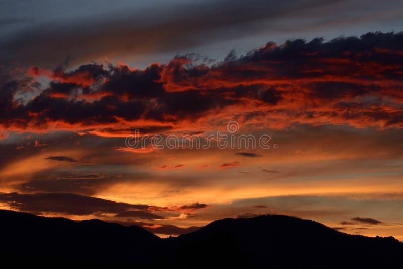 Sunet orageux photos stock