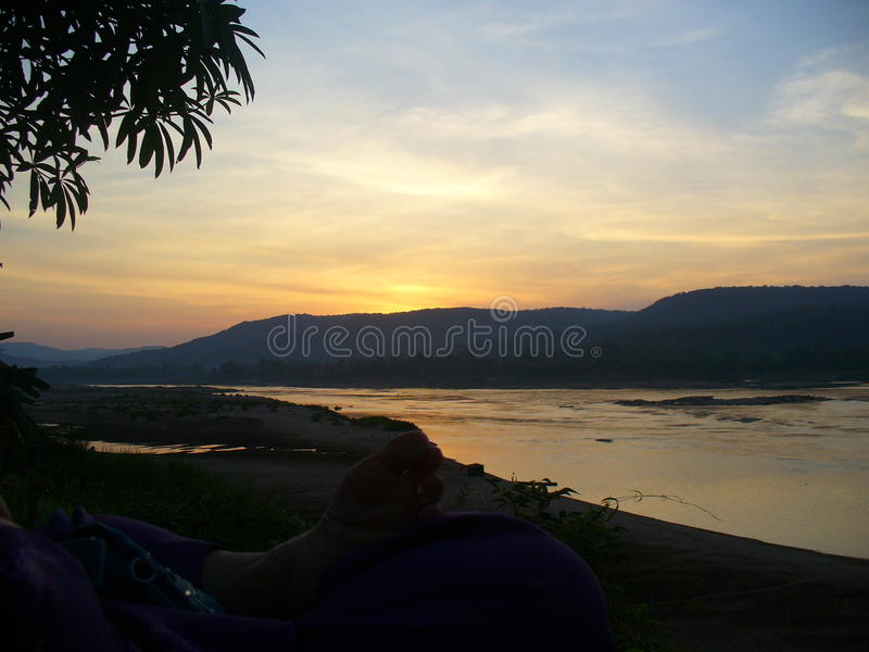 Sunet in thailnd royalty free stock photos