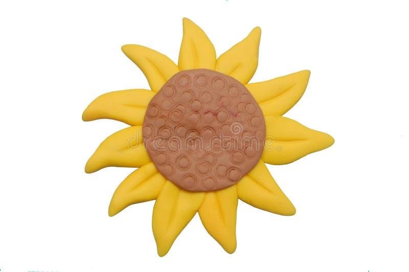 Sunflower. Sun flower made of polymer clay stock illustration