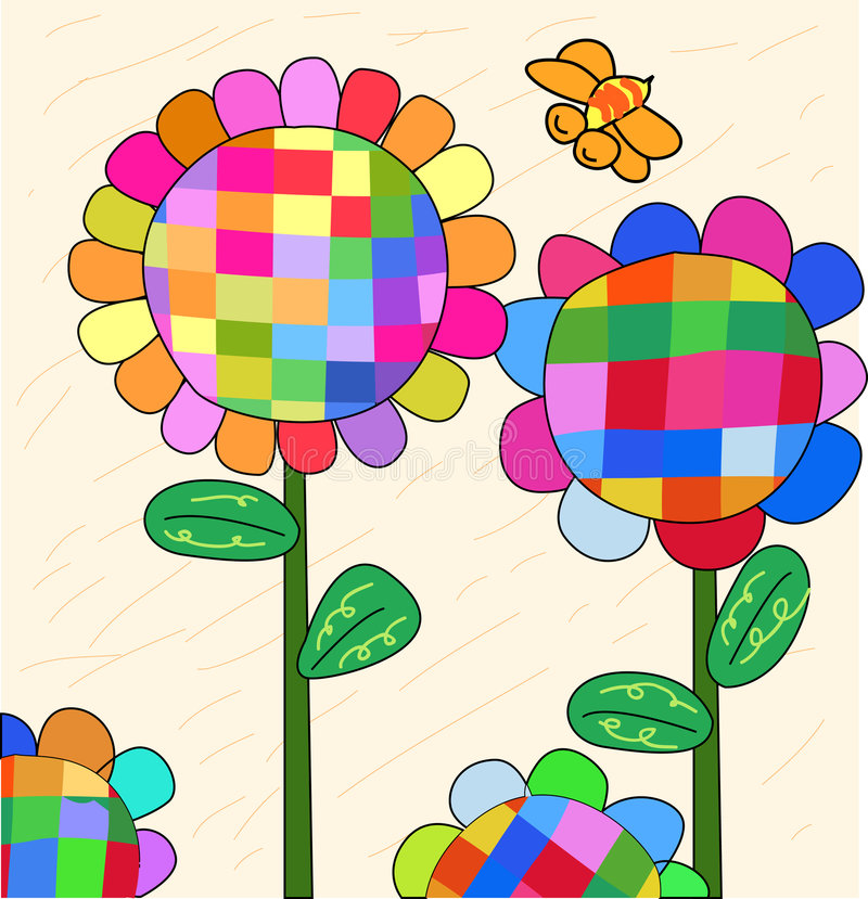 Download Sunflower stock vector. Image of sunflowers, pink, flower - 4796869