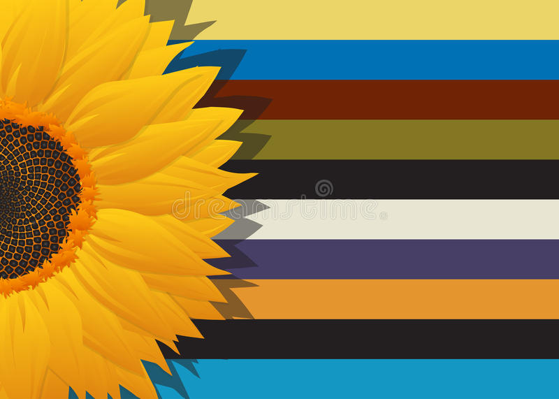 Download Sunflower abstract card stock vector. Illustration of cover - 34081195