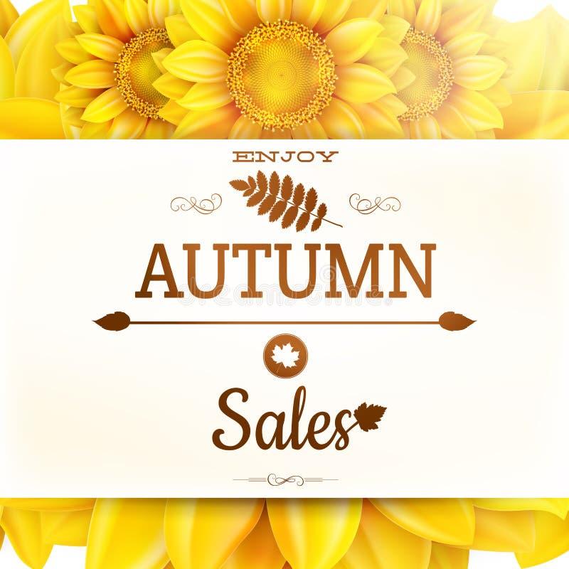 Free Sunflower Autumn Sale. EPS 10 Stock Images - 55609214
