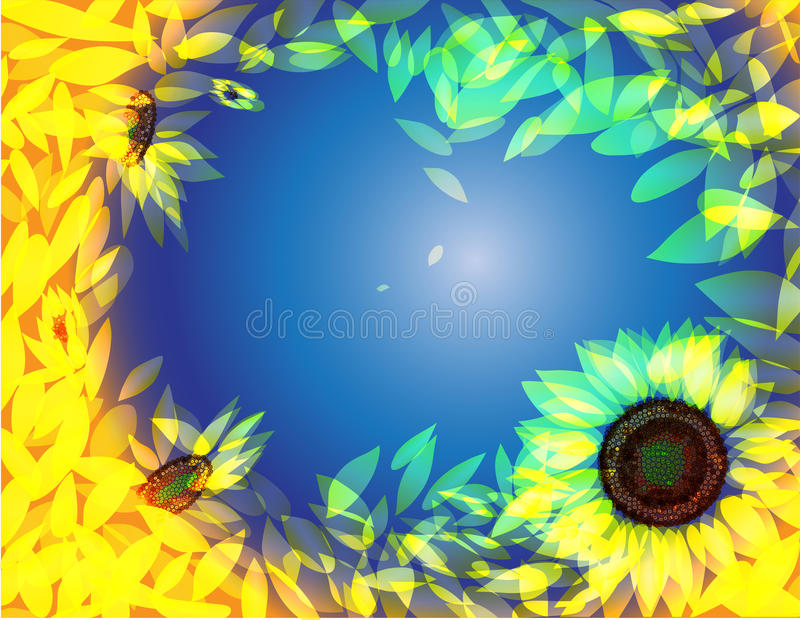 Download Sunflower background stock vector. Image of beautiful - 16885554