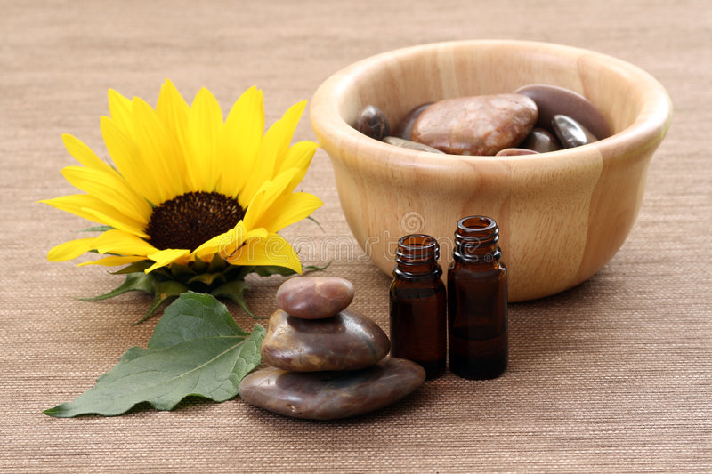 Sunflower Beauty Treatment Royalty Free Stock Image