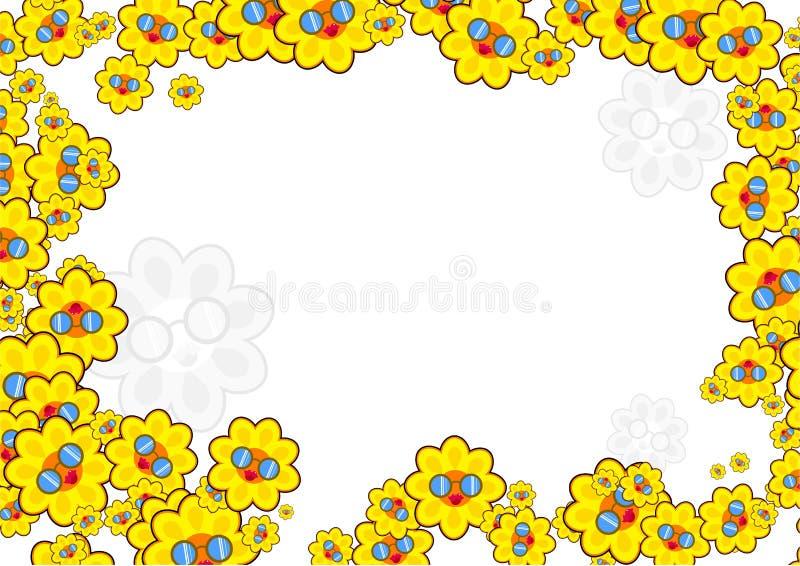 Sunflower border royalty free illustration