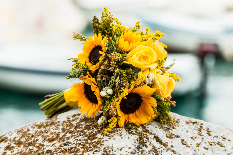 Sunflower bouquet royalty free stock image