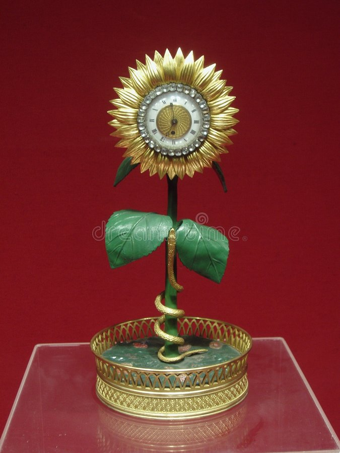Sunflower Clock stock image