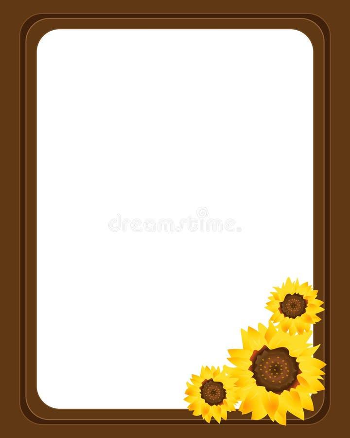 Sunflower frame stock vector. Illustration of flowers - 13940286