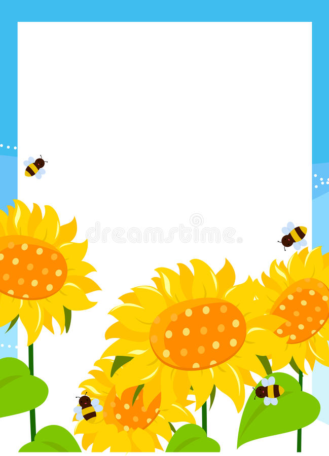Download Sunflower frame stock vector. Image of swirl, natural - 18491378