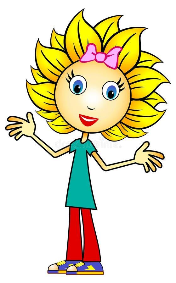 Sunflower Girl vector illustration