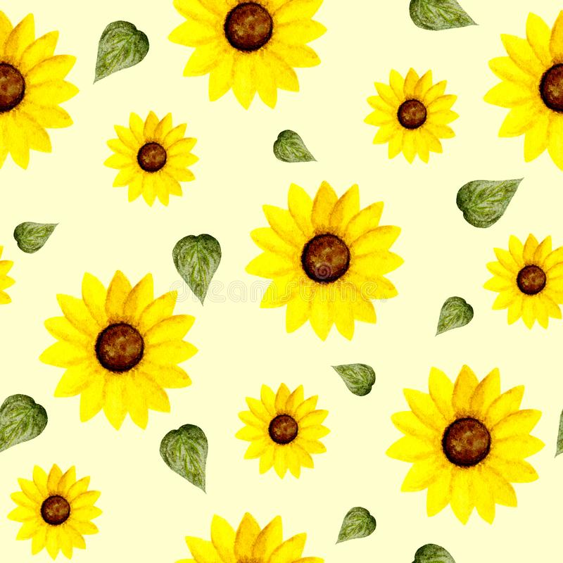 sunflower green leaf pattern yellow white background ideal fabric duvet cover napkins decoupage wallpaper 166960131
