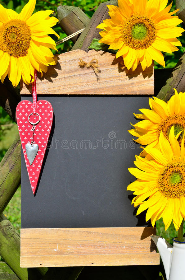 Download Sunflower heart red love stock image. Image of open, heart - 33143877