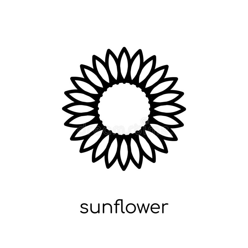 Sunflower icon from Ecology collection. stock illustration