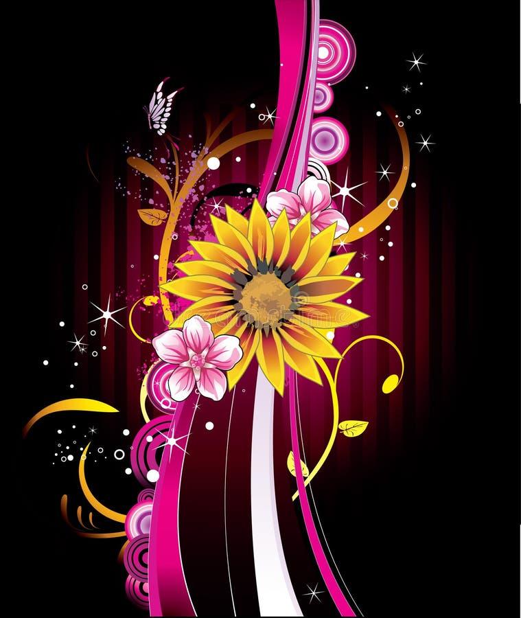 Sunflower illustration royalty free illustration