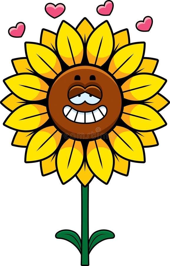 Sunflower in Love royalty free illustration