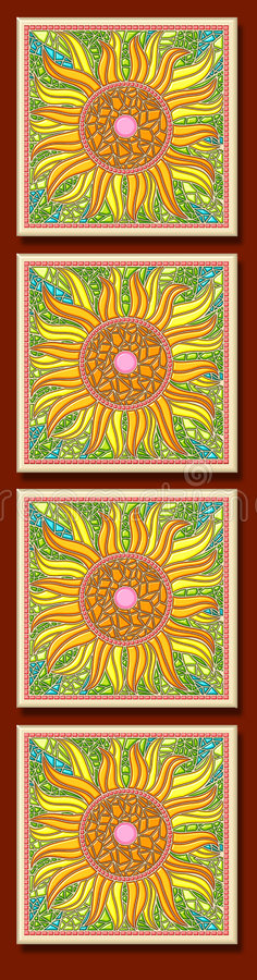 Sunflower multi-mosaic royalty free stock photos