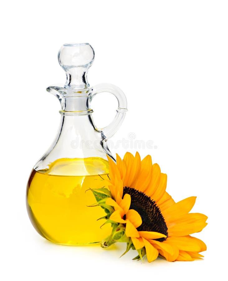 Sunflower oil bottle royalty free stock photo