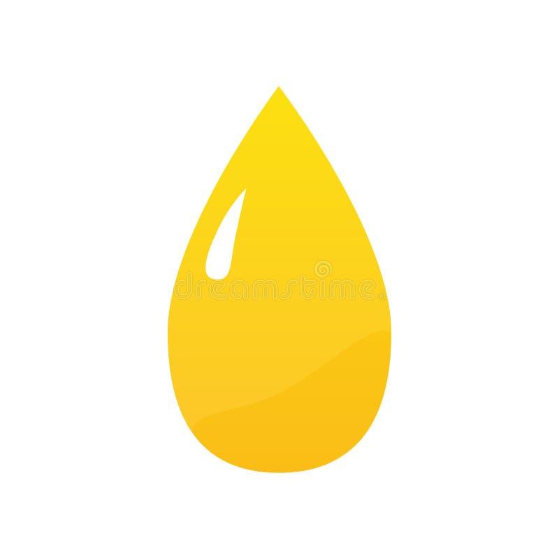 Sunflower oil drop vector illustration stock illustration
