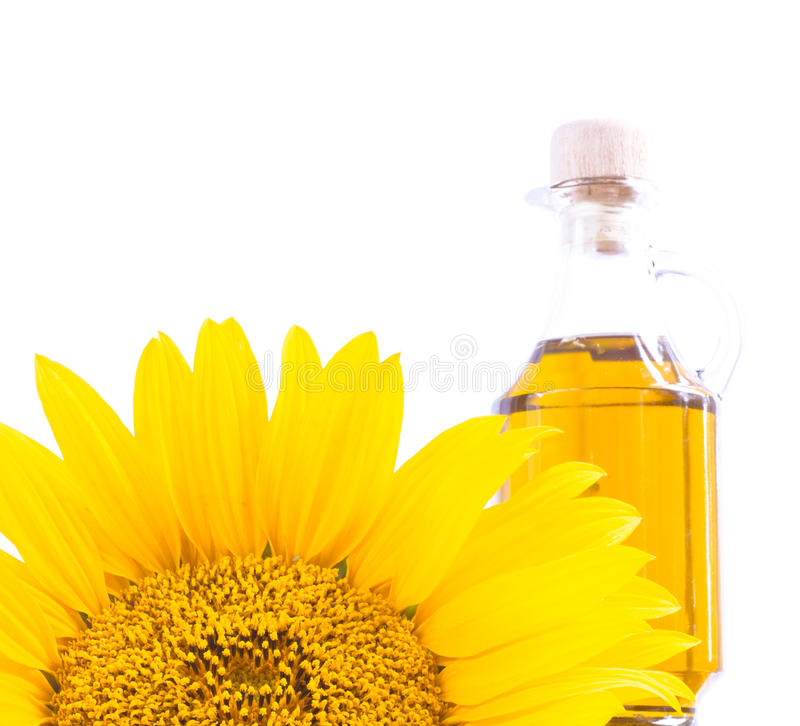 Sunflower oil. stock photo