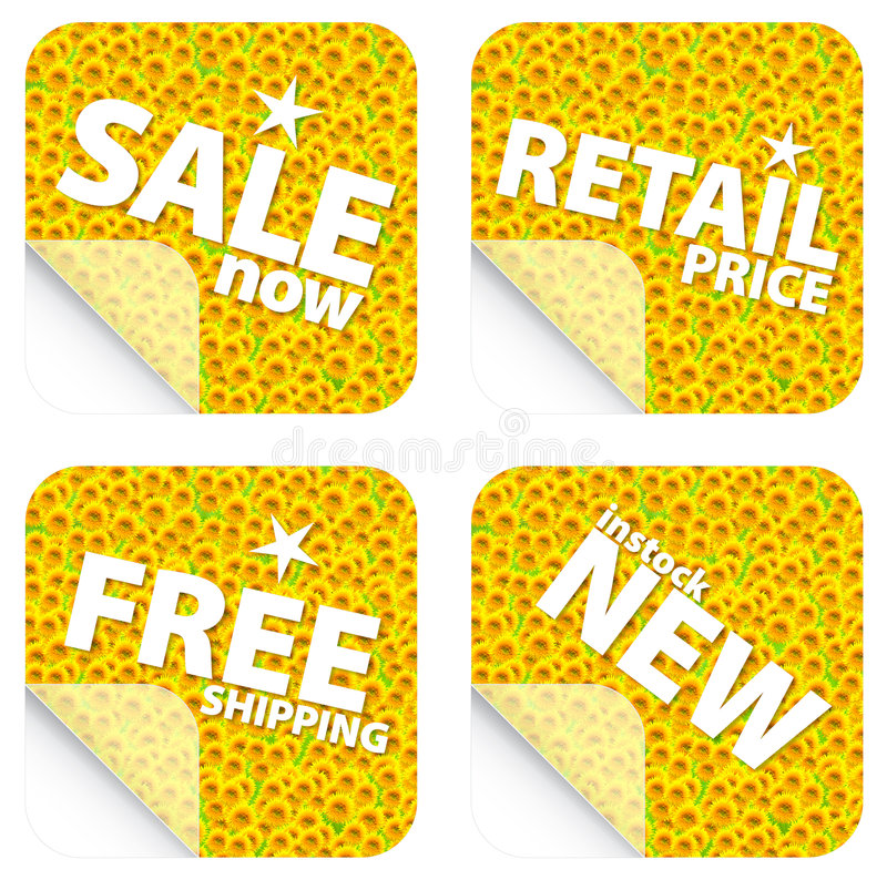 Download Sunflower Retail Stickers Royalty Free Stock Photo - Image: 5130125