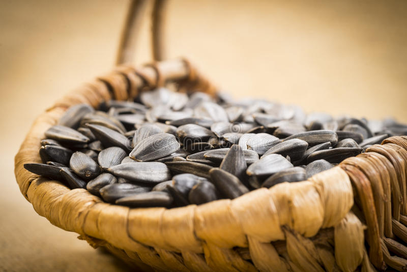 Download Sunflower seeds stock photo. Image of black, up, shelled - 28918852