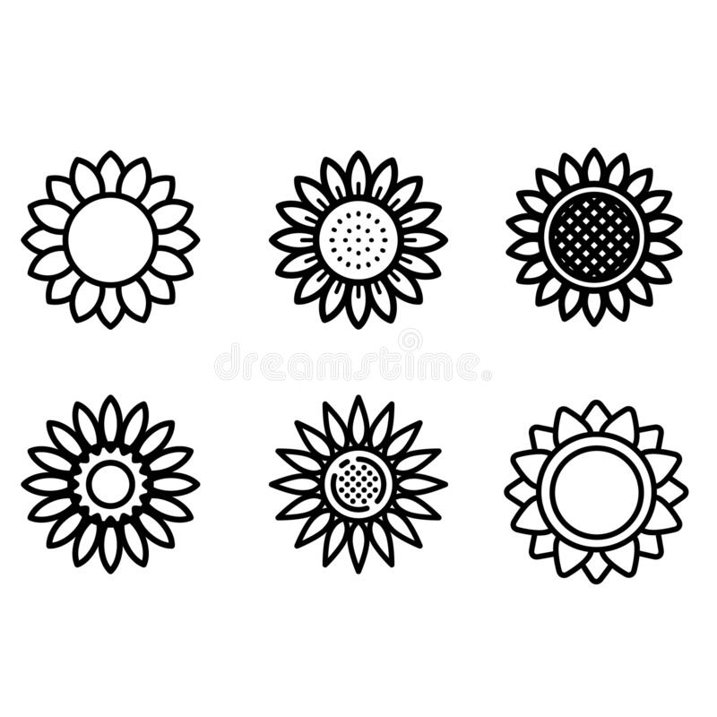 Free Sunflower Vector Icon Set. Flower Illustration Sign Collection. Beauty Symbol. Stock Image - 191408001