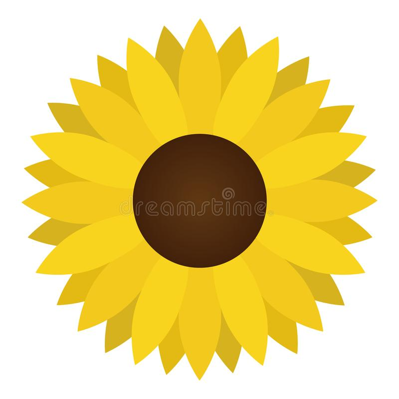 Sunflower yellow flower vector illustration royalty free illustration