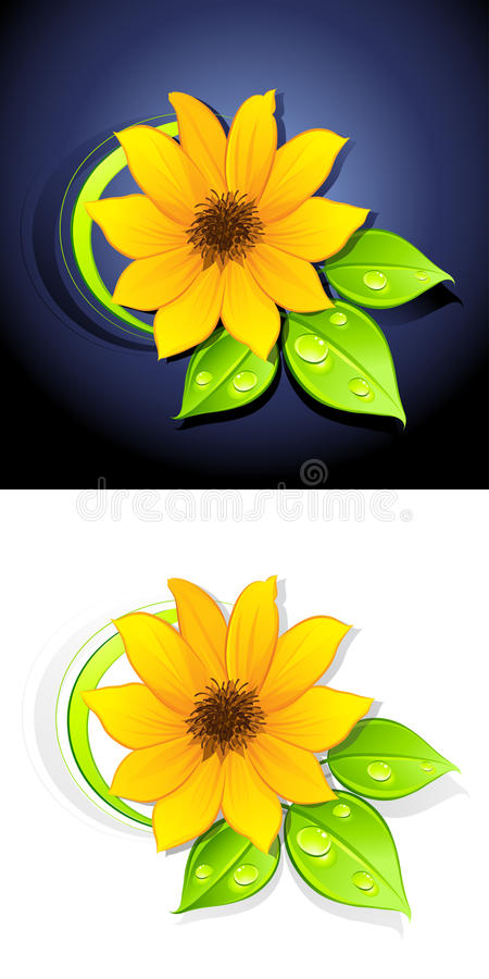 Download Sunflowers stock vector. Illustration of green, flowering - 14783710