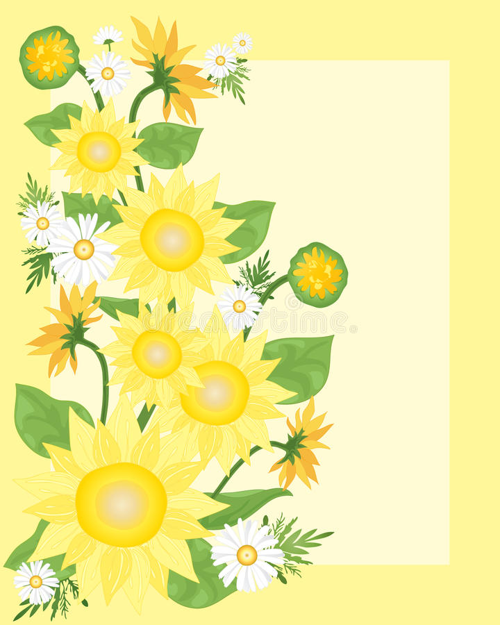 Download Sunflowers stock vector. Illustration of nature, shapes - 24403907