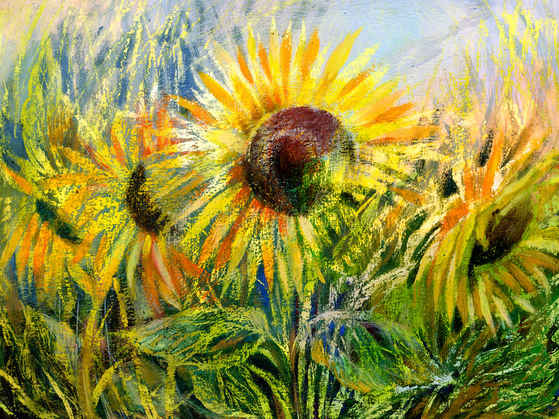 Sunflowers stock illustration