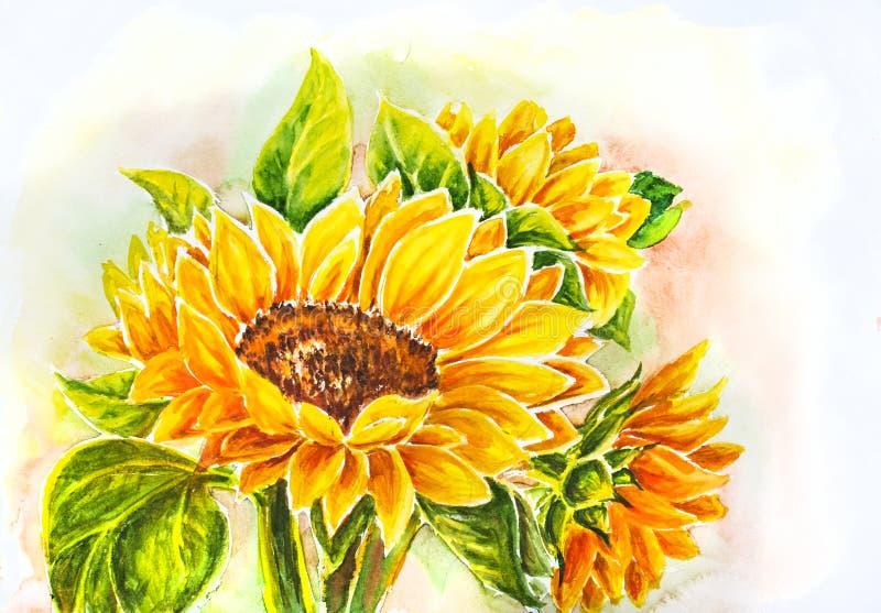 Sunflowers. vector illustration