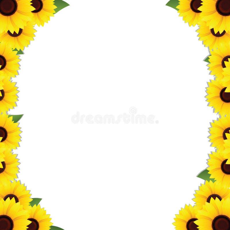 Sunflowers frame borders stock vector. Illustration of concept ...