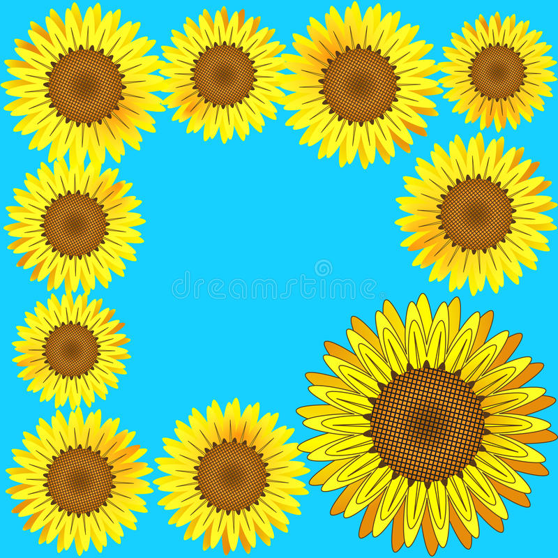Download Sunflowers frame. Vector. stock vector. Image of circle - 24796771