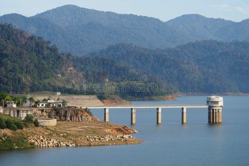 Sungai雪兰莪水坝,瓜拉Kubu Bharu 免版税库存图片