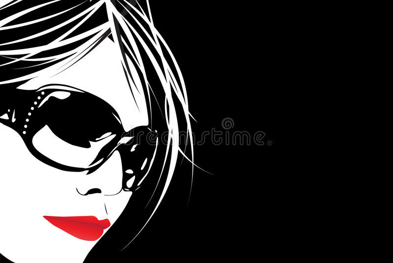 Sunglass Cutie royalty free illustration