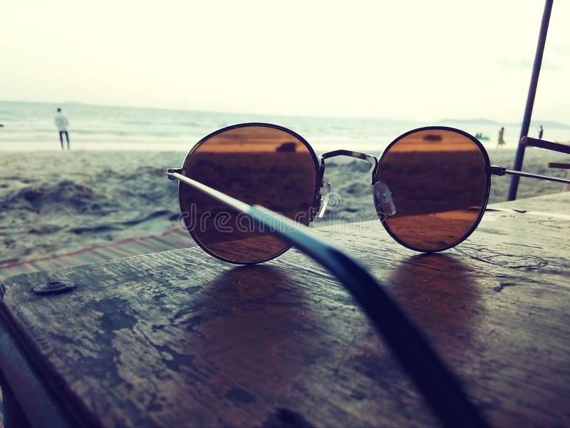 Sunglass lookout horizon royalty free stock photos